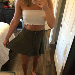 Olive circle skirt